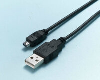 Кабель USB 2.0-mini USB 4 pin BasicXL CABLE-161 (1.8 метра)