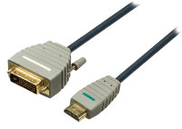 Кабель HDMI-DVI-D Bandridge BVL1102 (2 метра)